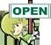 :open: